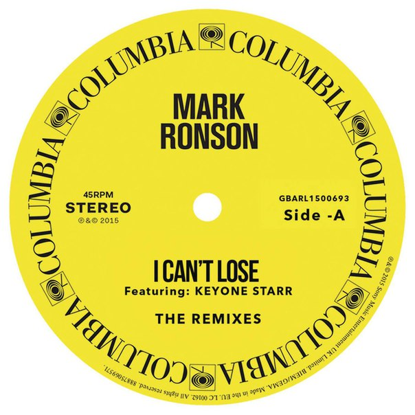 Mark Ronson feat. Keyone Starr - I Can't Lose [Remixes]